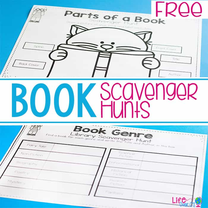 Fantastic Scholastic Book Giveaway + Free Printable Book Scavenger Hunts