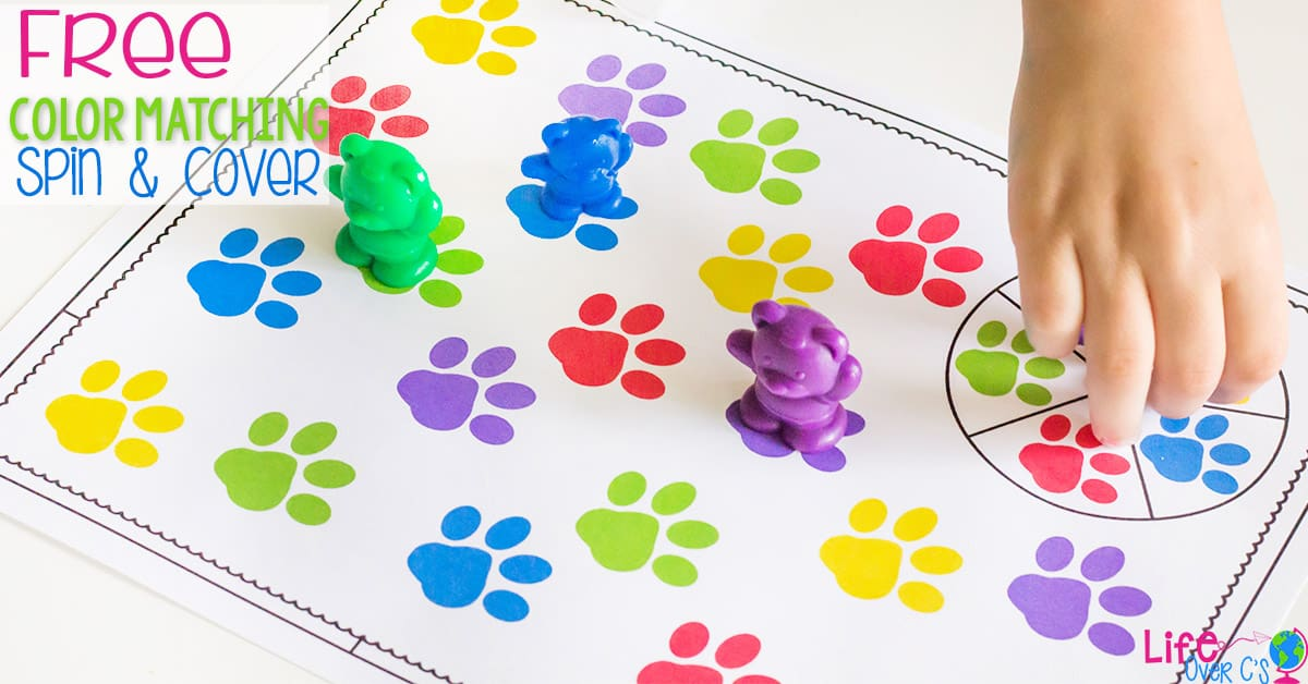 Animal Paw Print Color Matching Game for Preschoolers - Life ...