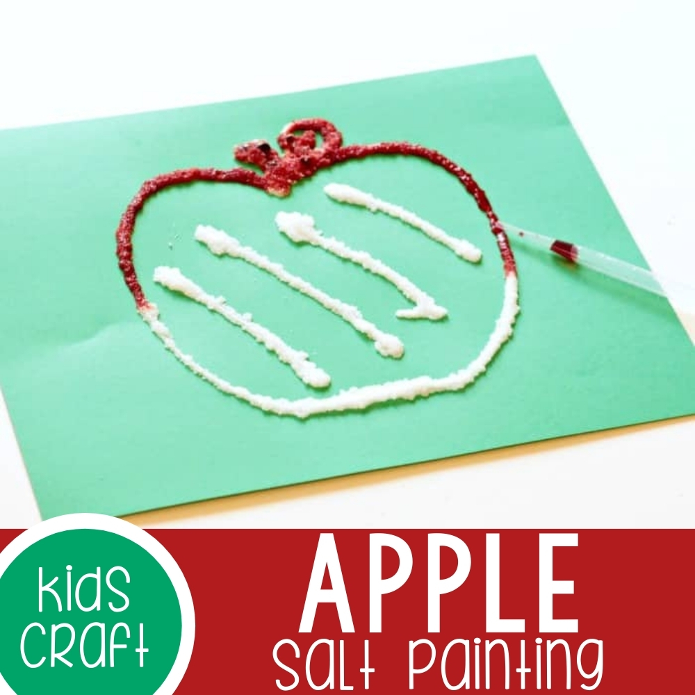Raised Apple Salt Painting Featured Square Image