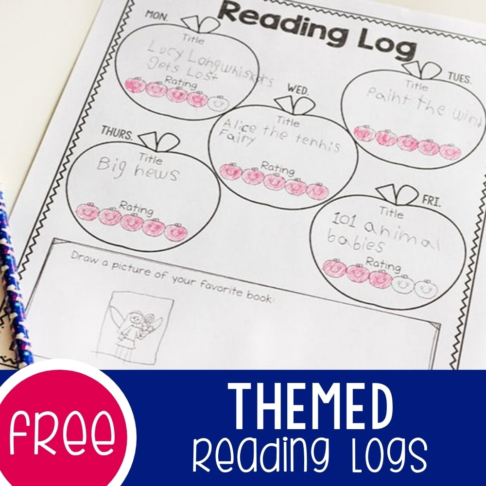 Themed reading logs featured image.