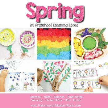Engage your preschoolers with these hands-on spring theme activities! A complete set of preschool lesson plans for your spring theme to make planning easy.