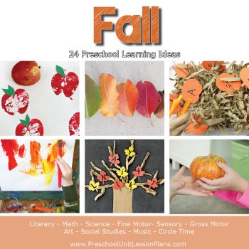 Engage your preschoolers with these hands-on fall theme activities! A complete set of preschool lesson plans for your fall theme to make planning easy.