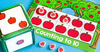 Kids love counting with these free printable apple counting grid games!