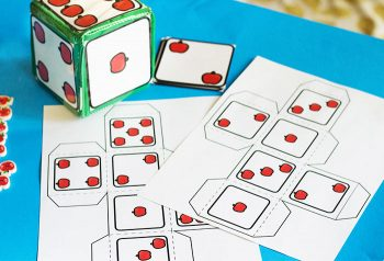 Grab your differentiated instruction cubes for these hands-on counting grid math games for preschoolers.
