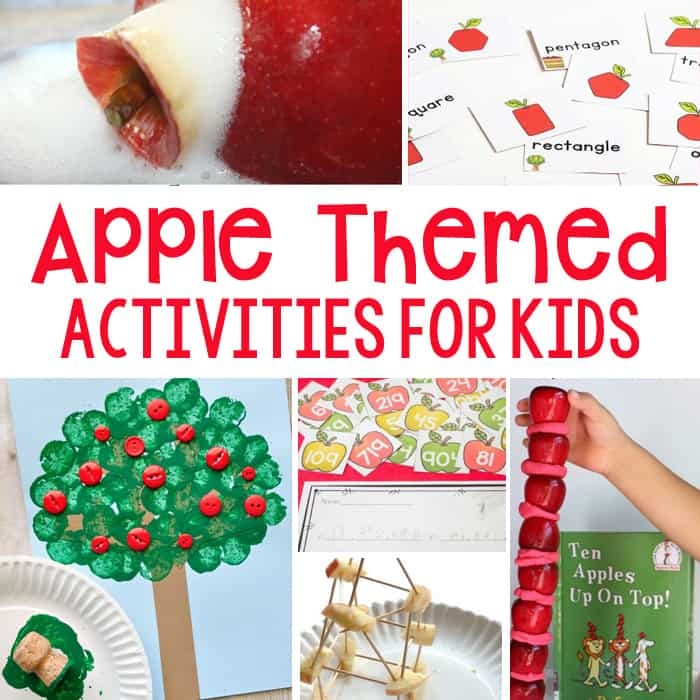30+ Amazing Apple Themed Activities For Kids