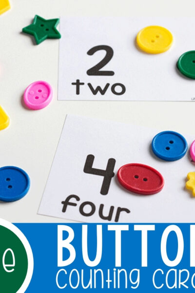 Button Counting Cards for Numbers 1-10 Featured Square Image
