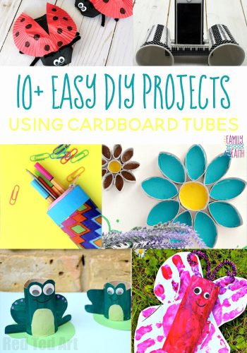 10+ Easy DIY Projects Using Cardboard Tubes. Perfect For Home, Kids & Fun.