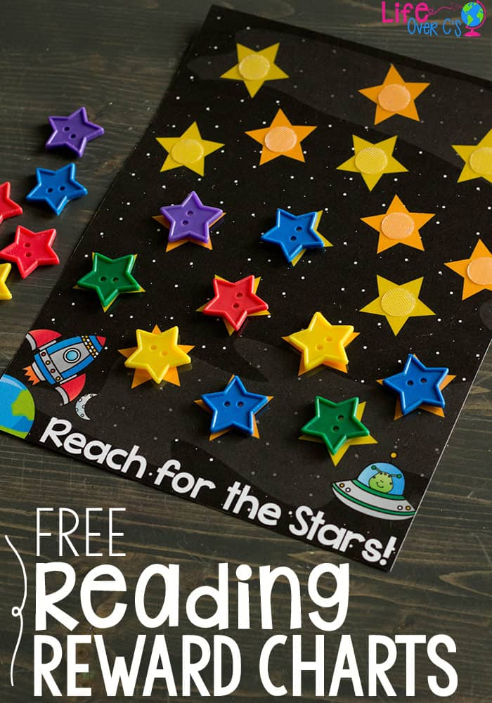 printable reading reward charts for kids