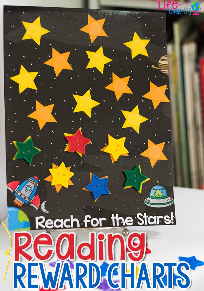 Get kids excited about reading with these free printable reading reward charts. 2 different formats: Space and bubbles included.