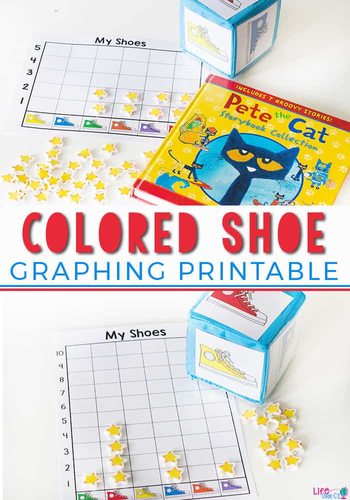 photo regarding Pete the Cat Shoes Printable named Cost-free Printable Coloured Shoe Graphing Sport for