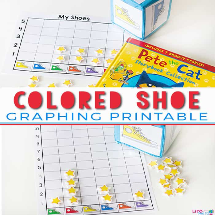 Free Printable Colored Shoe Graphing Activity for Preschoolers