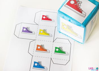 Kids love these fun colored shoe graphing printables. Such a fun way to work on graphing with your preschoolers!
