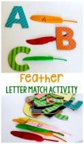 Practicing matching letters of the alphabet with this easy prep feather letter matching activity. Match uppercase to lowercase or work on letter recognition in either case.