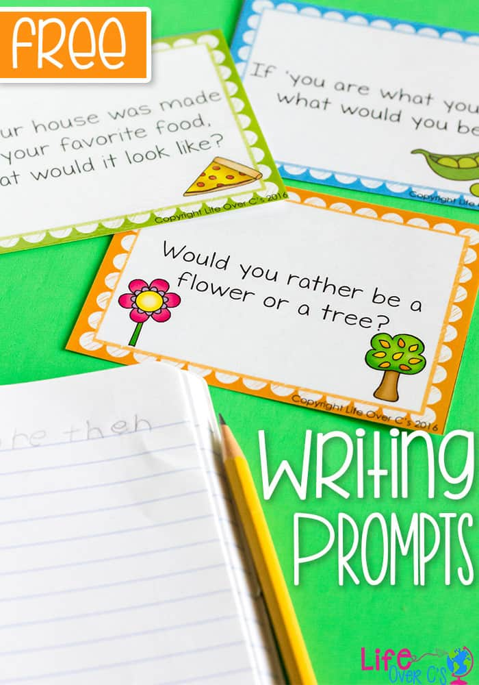Spark your kids' imaginations with these free printable writing prompts for kids! From super powers to outer space to a few of your favorite things, this set of writing prompts is a blast!