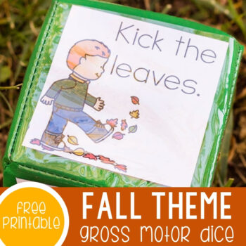 Fall Gross Motor Action Dice Featured Square Image