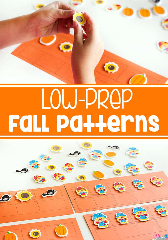 Create easy pattern activities for fall with these cute stickers! Differentiate patterns for all of your kids!