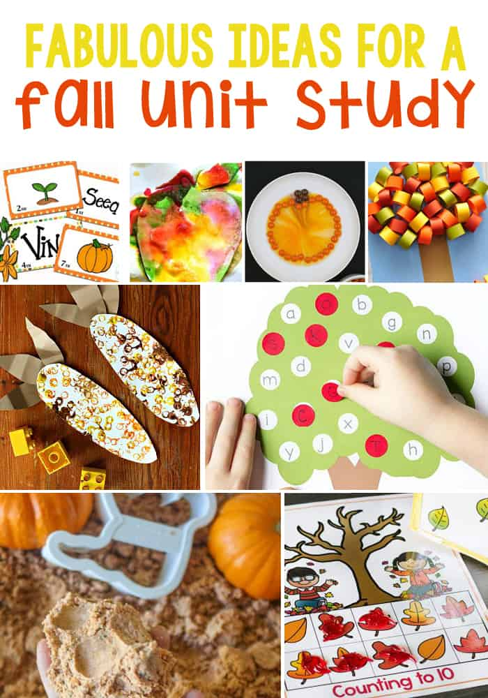 Over 100 Fall Unit Study Ideas: Math, Literacy, Art & Crafts, Sensory and Science