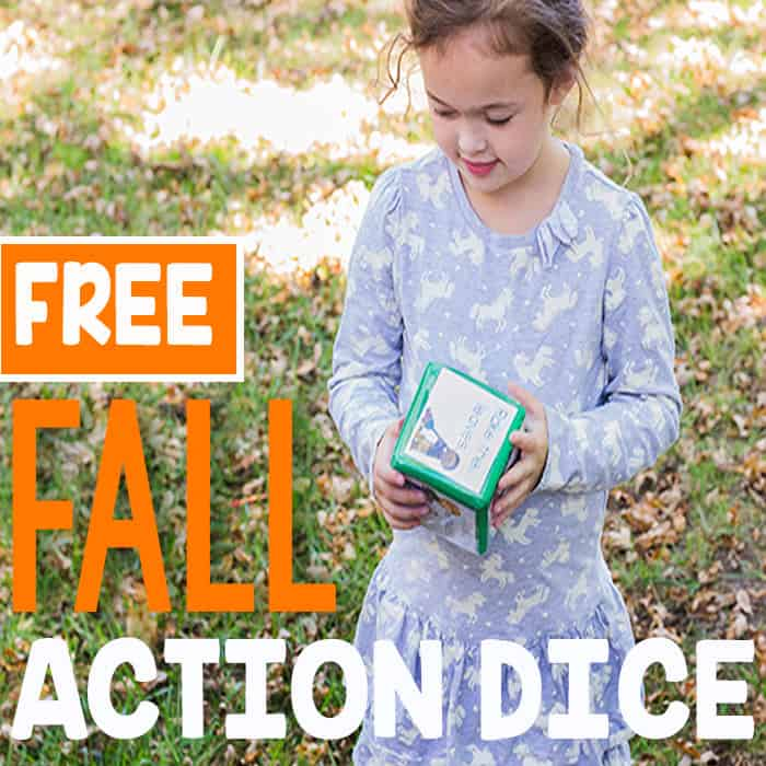 Fall Gross Motor Action Dice Printable for Brain Breaks