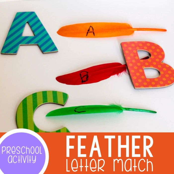 Feather Letter Match Activity Featured Square Image