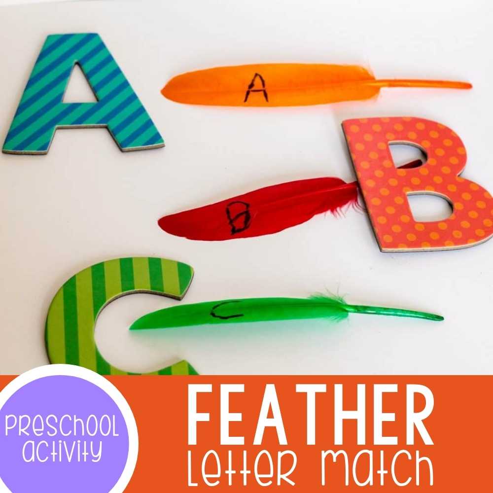 Feather Letter Match Activity