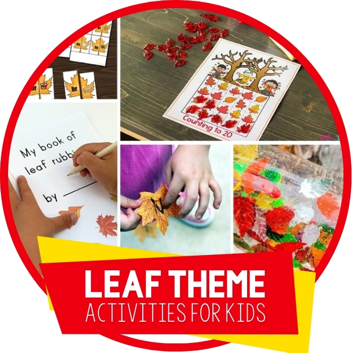 Leaf Themed Activities For Kids Featured Image