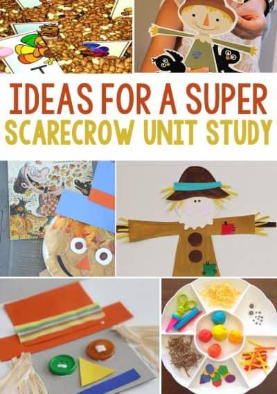 Scarecrow Unit Study Ideas: Math, Literacy, Art & Crafts, Sensory and Science