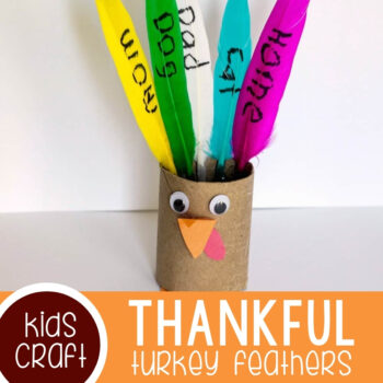 Thankful Turkey Toilet Paper Roll Craft Featured Square Image