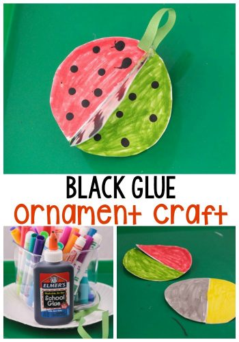 Use a bit of 3D magic to make these black glue Christmas ornaments that you can hang on your Christmas tree! #Christmascrafts #ornament #Christmascraft