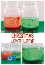 Simple science experiment for kids: Christmas Lava Lamp