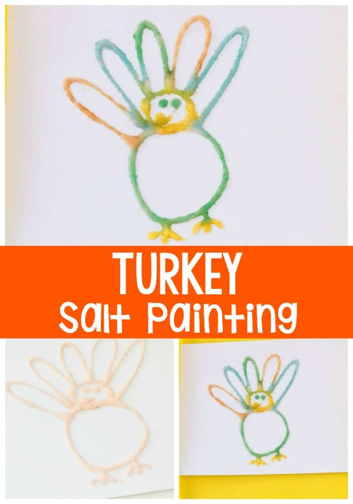 Salt Painted Turkey Fine Motor Activity