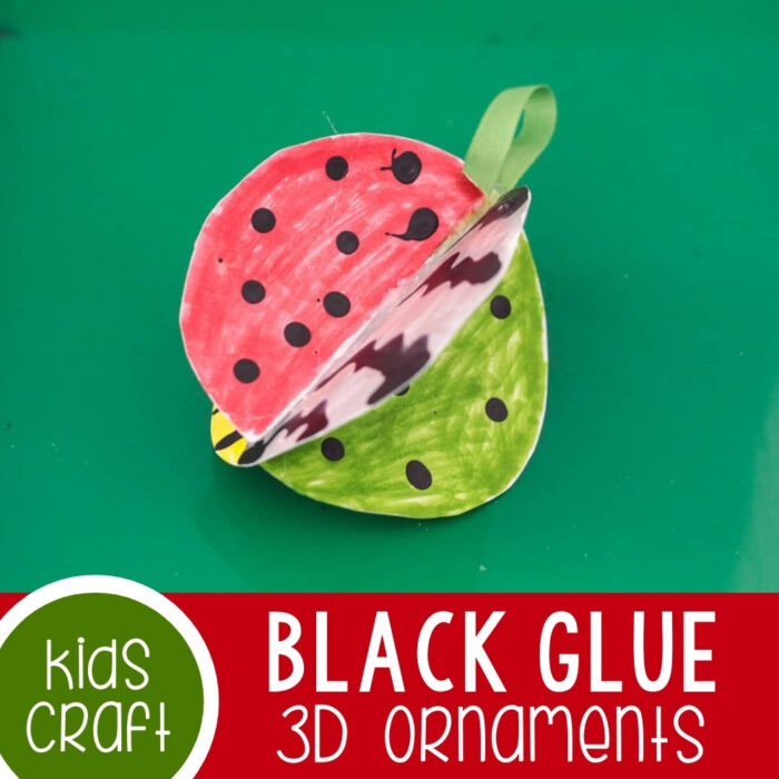 Black Glue 3D Ornaments Craft Activity Featured Square Image