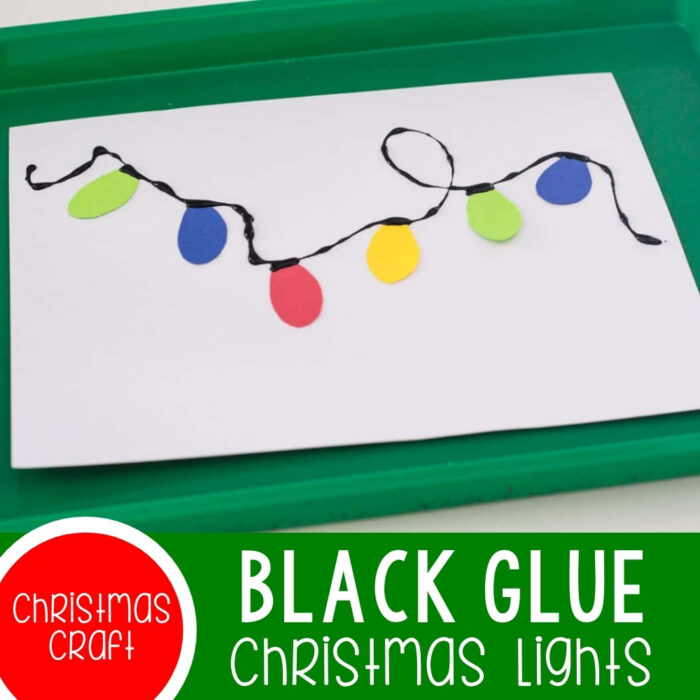Black Glue Christmas Lights Craft Featured Square Image