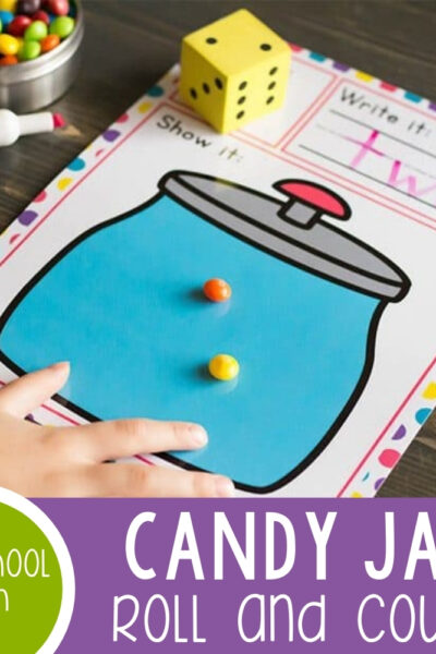 Candy Jar Roll and Count Dice Game Featured Square Image