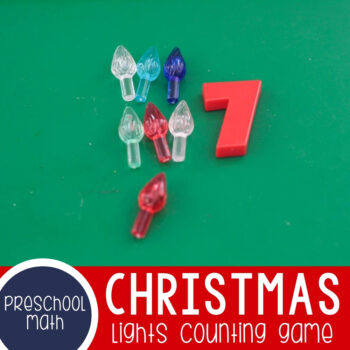 Christmas Lights Counting Game Featured Square Image