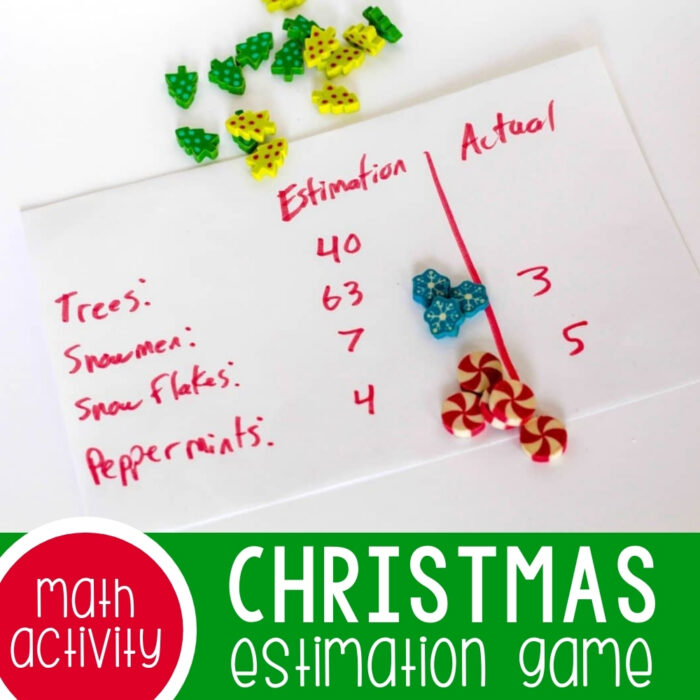 Christmas Mini Eraser Estimation Game Featured Square Image
