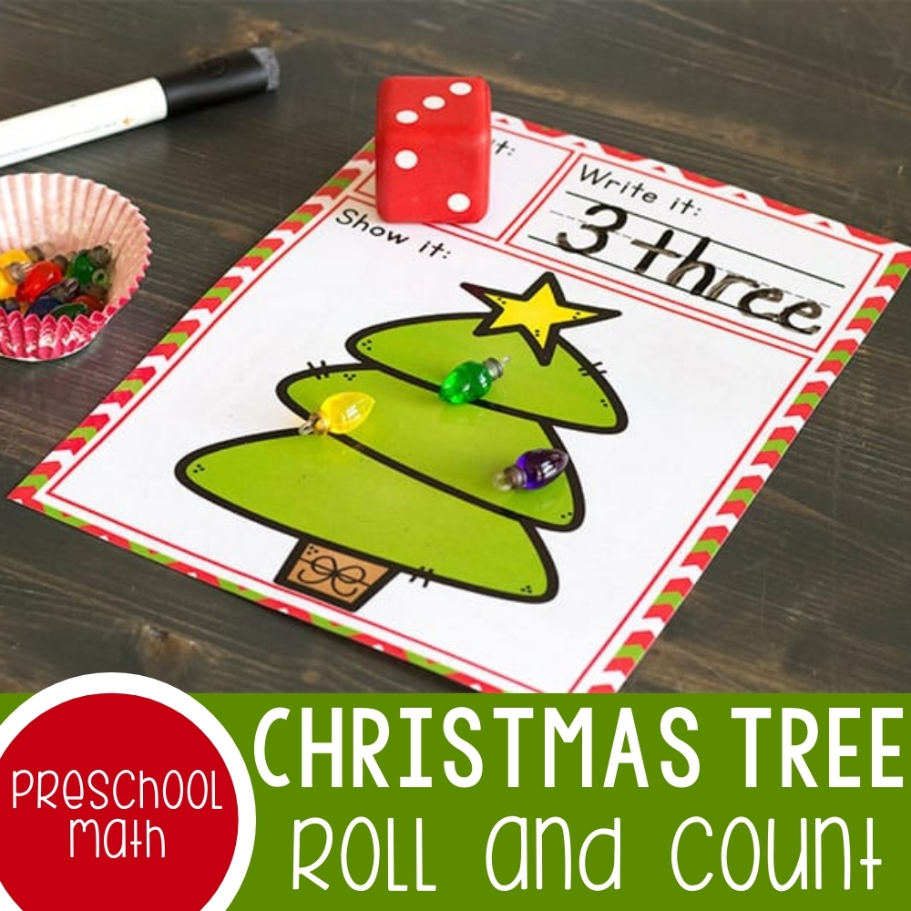 Christmas Tree Roll And Count Featured Square Image
