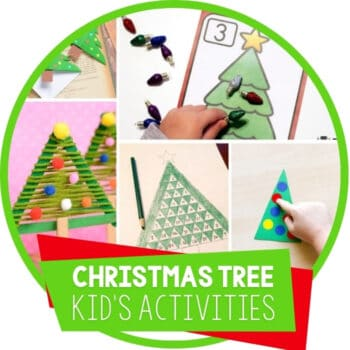 Christmas Tree Theme Activity Ideas Featured Image