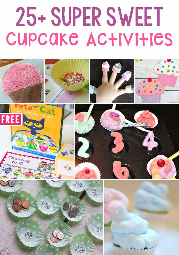 Cupcake Activities For Kids: Math, Science, Literacy, Sensory and Art & Crafts. These activities will have your kids craving more.