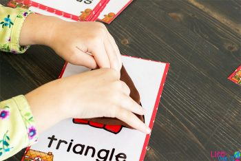 Create 2D shapes on these adorable Gingerbread shape mats for Christmas.