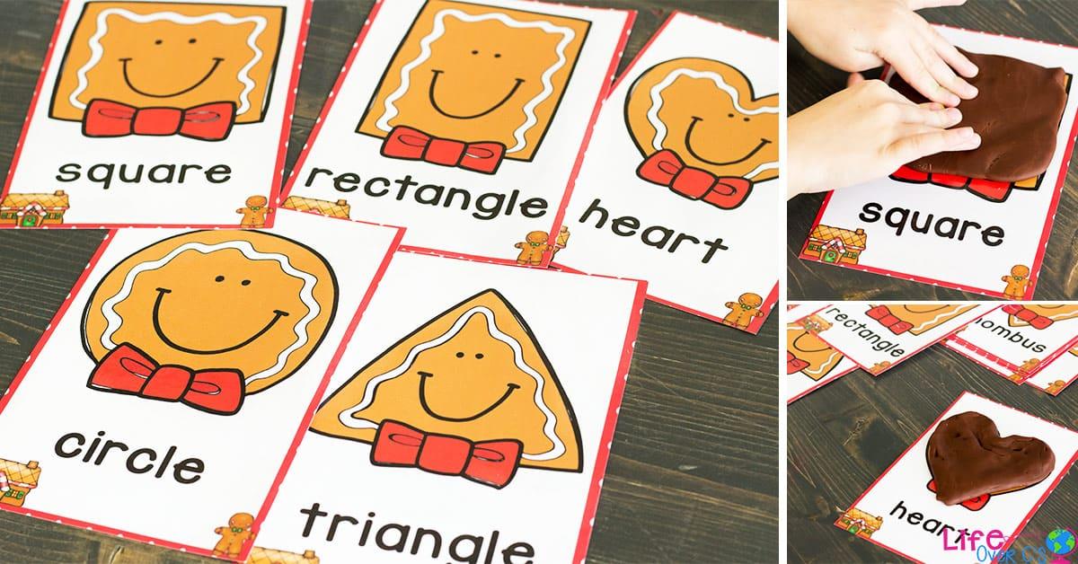 Free Printable Gingerbread Shape Play Dough Mats
