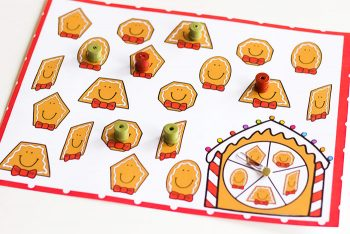 These shape games for kindergarten are a great way to review shapes during your Christmas theme! These adorable gingerbread activities make learning shapes so much fun!