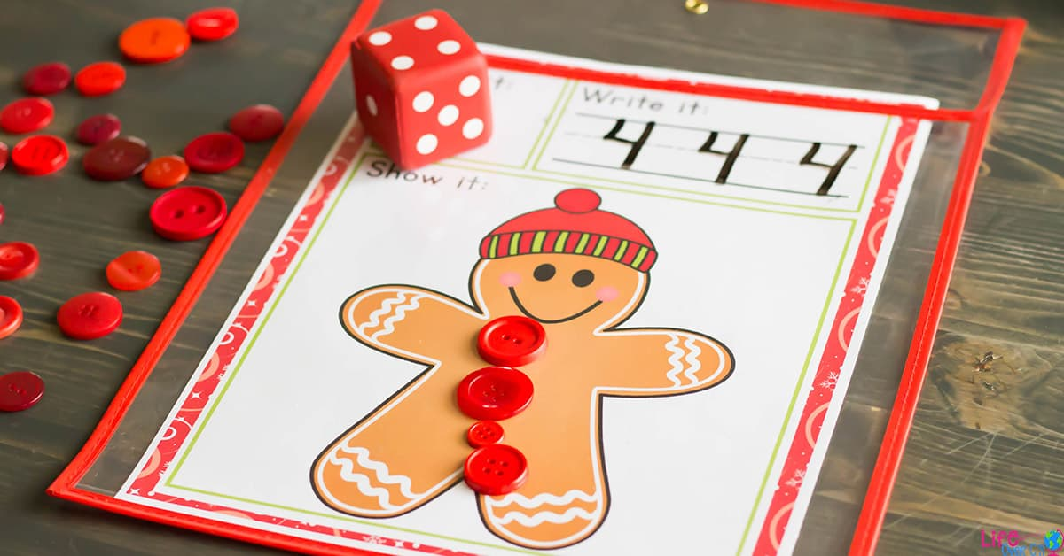 Free Printable Gingerbread Roll And Count Math Game Life
