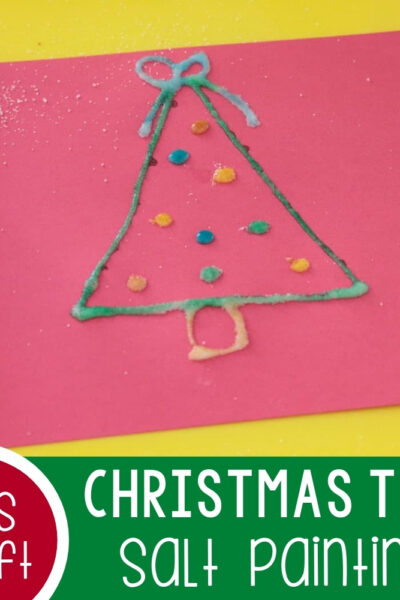 Salt Painted Christmas Tree Activity Featured Square Image