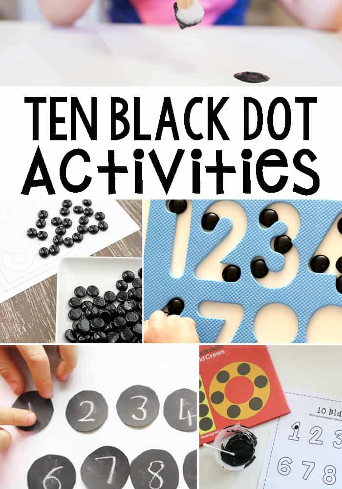 Ten Black Dot Inspired Activities - Math and Other Activities Inspired By The Fun Children's Book Ten Black Dots