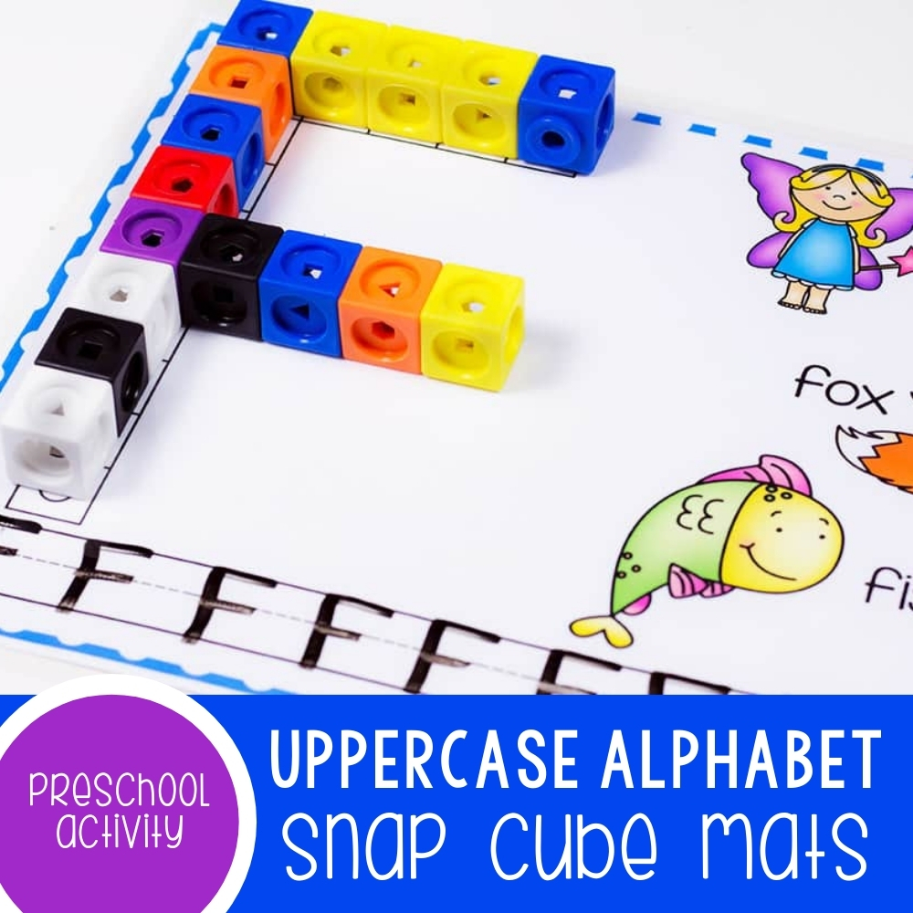 Uppercase Alphabet Snap Cube Mats Featured Square Image