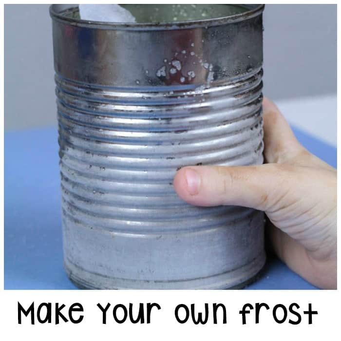 Frost in a Can Science Experiment for Kids