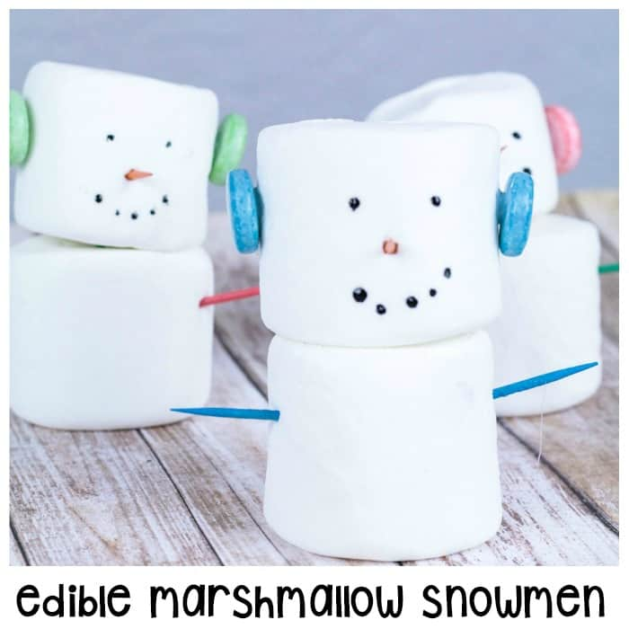 Edible Marshmallow Snowmen