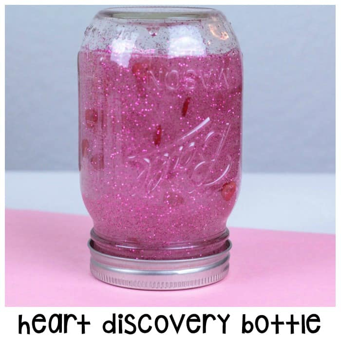 Heart Discovery Bottle For Fun Sensory Play