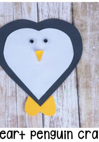 Make your winter crafts memorable with this fun heart penguin craft! Kids will love making this heart-shaped twist on a winter favorite.