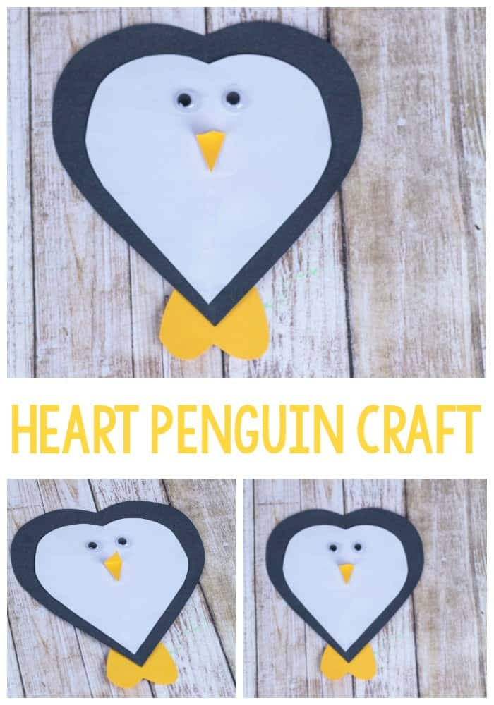 Make your winter crafts memorable with this fun heart penguin craft! Kids will love making this heart-shaped twist on a winter favorite. Perfect for a Valentine's Day classroom craft!